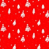 Seamless christmas pattern sketches of natural elements Stock Images