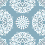 Seamless Christmas pattern with snowflakes, holiday background Stock Photo
