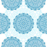 Seamless Christmas pattern with snowflakes, holiday background Royalty Free Stock Photo