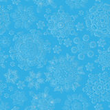 Seamless christmas pattern, snowflakes on a light background royalty free illustration