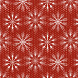 Seamless christmas pattern with snowflakes and stars Royalty Free Stock Photos
