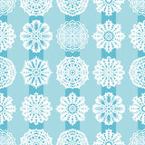 Seamless Christmas pattern with snowflakes Stock Photography