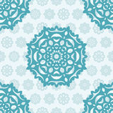Seamless Christmas pattern with snowflakes Royalty Free Stock Image