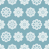 Seamless Christmas pattern with snowflakes Stock Image