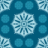 Seamless Christmas pattern with snowflakes Royalty Free Stock Photos