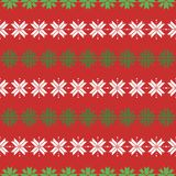 Seamless christmas pattern with snowflakes. traditional sweater pattern vector illustration