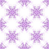 Seamless christmas pattern with snowflakes Stock Photo
