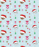 Seamless  christmas pattern with teddy bears Royalty Free Stock Photo