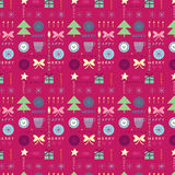 Seamless Christmas pattern with the text Royalty Free Stock Image