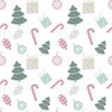 Seamless Christmas pattern. Seamless pattern on the theme of Christmas. For background on the postcard Royalty Free Stock Photography