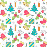 Seamless Christmas pattern. Seamless pattern on the theme of Christmas. For background on the postcard Stock Photos