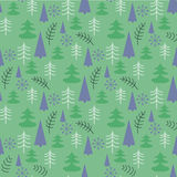 Seamless Christmas pattern with trees. Ideal for wrapping paper, invitation card or other print materials Stock Photo