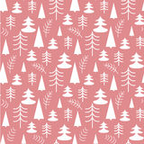 Seamless Christmas pattern with trees. Ideal for wrapping paper, invitation card or other print materials Stock Images