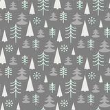 Seamless Christmas pattern with trees. Ideal for wrapping paper, invitation card or other print materials Stock Image