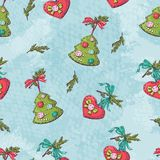 Seamless christmas pattern. vactor illustration. Hand draw Royalty Free Stock Images