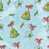 Seamless christmas pattern. vactor illustration. Hand draw Royalty Free Stock Photography