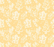 Seamless christmas pattern. Vector art Stock Photo