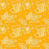 Seamless christmas pattern. Vector art Royalty Free Stock Photos