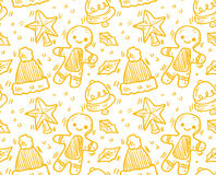 Seamless christmas pattern. Vector art Stock Images