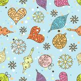 Seamless Christmas pattern, vector Stock Photo