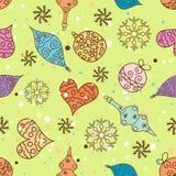 Seamless Christmas pattern, vector Royalty Free Stock Photos