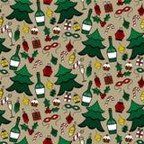 Seamless christmas pattern. Vector illustration Stock Photo