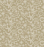 Seamless christmas pattern. Vector illustration Royalty Free Stock Image