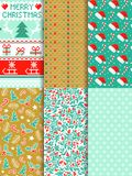 Seamless christmas pattern vector set