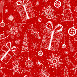 Seamless Christmas pattern. Royalty Free Stock Images