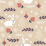 Seamless christmas pattern stock illustration