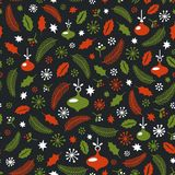 Seamless Christmas pattern. Wrapping paper design. Christmas decoration elements. New year party. vector illustration Stock Image