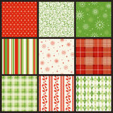 Seamless Christmas Patterns Stock Images