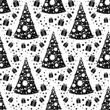 Seamless Christmas patterns Royalty Free Stock Photos
