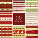 Seamless Christmas patterns Royalty Free Stock Photography
