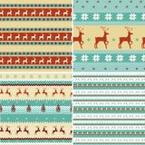 Seamless Christmas patterns Stock Photography