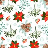 Seamless Christmas patterns. set. Royalty Free Stock Photo