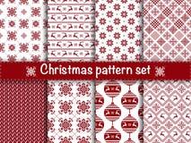 Seamless christmas patterns Stock Photography