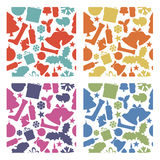 Seamless  christmas patterns from various shapes Royalty Free Stock Image