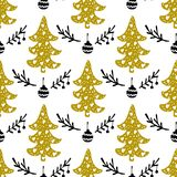 Seamless Christmas patterns. Vector design for the winter holidays.  Vector Illustration