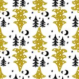 Seamless Christmas patterns. Vector design for the winter holidays.  Stock Illustration