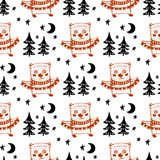Seamless Christmas patterns.Vector design for the winter holidays.  Stock Illustration
