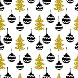 Seamless Christmas patterns. Vector design for the winter holidays.  Stock Images