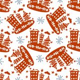 Seamless Christmas patterns. Vector design for the winter holidays.  Stock Image