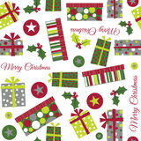 Seamless Christmas Present Illustration Royalty Free Stock Photos