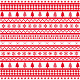 Seamless Christmas Red Background Royalty Free Stock Images