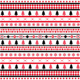 Seamless Christmas Red Background Stock Images