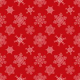 Seamless Christmas red pattern with drawn Royalty Free Stock Photos