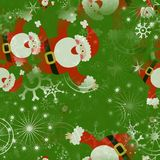 Seamless Christmas Santa Wrapping Paper vector illustration
