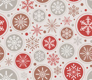 Seamless christmas snowflake background Stock Photography