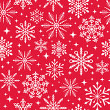 Seamless christmas snowflake background Royalty Free Stock Photos